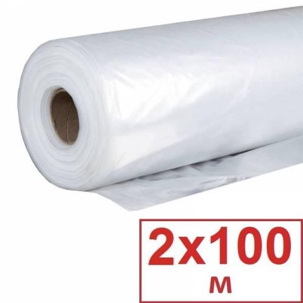 Пленка полиэтиленовая для парника 80 мкм, 2 х 100м