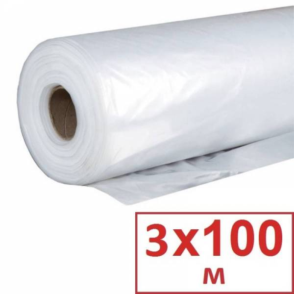 Пленка полиэтиленовая для парника 90 мкм, 3 х 100м