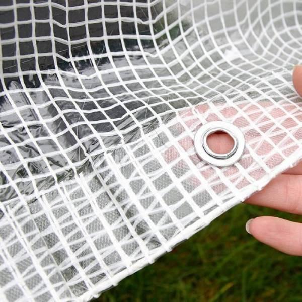 Тент армированный, 100г/м2, прозрачный, 3х3м