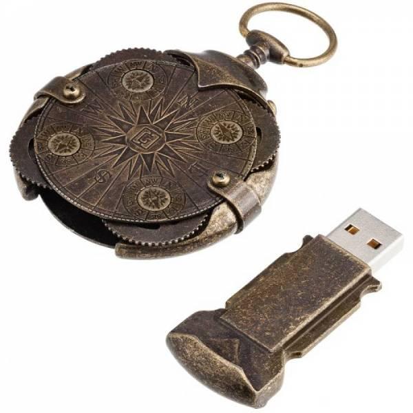Compass криптекс флешка 64 Гб (4 кольца с компасом)