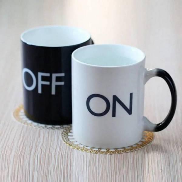 "Чашка хамелеон  ""ON OFF"""
