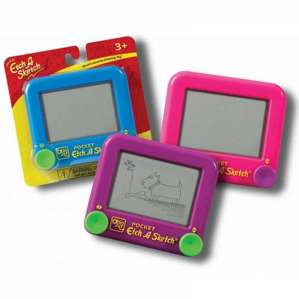 Волшебный экран доска планшет Etch a sketch Pocket (63х40 мм)