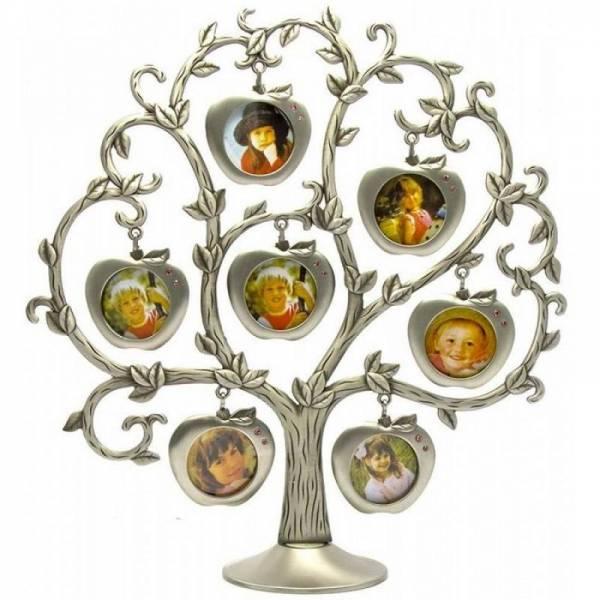 """Фоторамка """"Родовое дерево + яблоки"""" на 7 фотографий"""