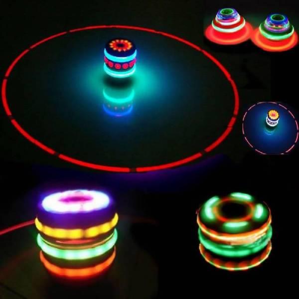 Веселая игрушка супер юла с подсветкой и музыкой