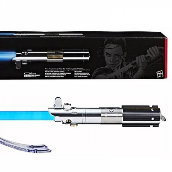 Коллекционный световой меч Рей Rey lightsaber Force FX