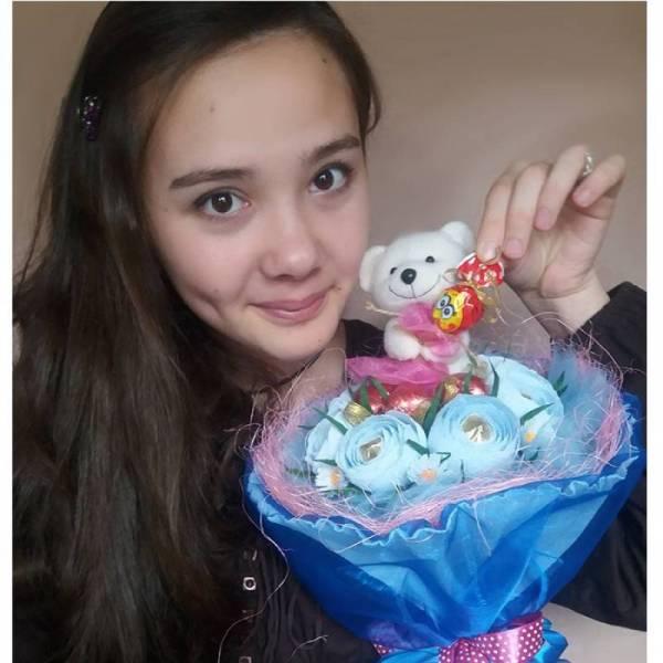 Подарочный букет с конфетами