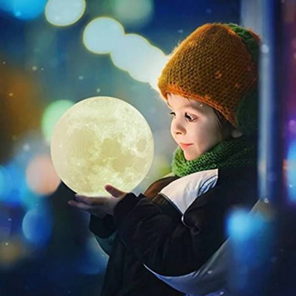 Луна лампа ночник Moon light lamp диаметр - 8 см