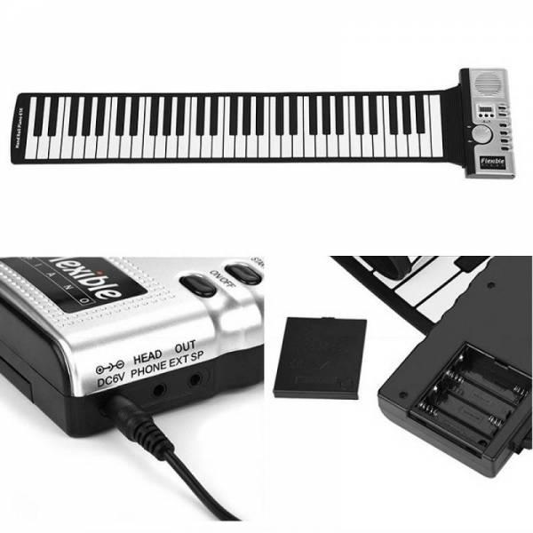 Гибкое пианино синтезатор на 61 клавишу модель №1
