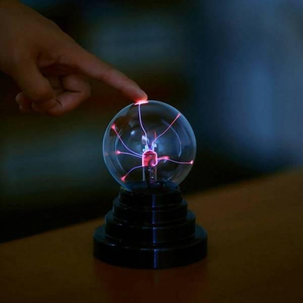 Тесла плазменный шар электрический с молниями 7,5 см