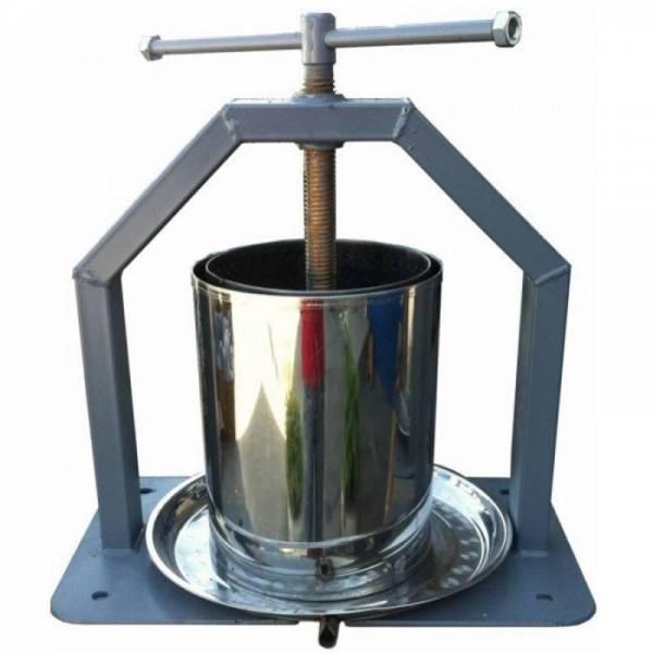 Ручний гвинтовий прес для видавлювання соку 10 і 15 літрів