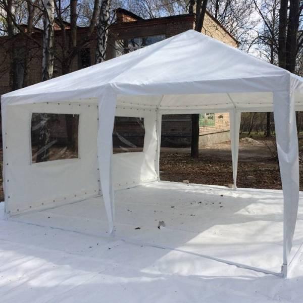 Садовый павильон 3х3 м с тентом плотностью 150 г/м2