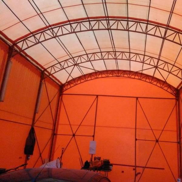Под заказ тентовый ангар склад, большой шатер навес для авто
