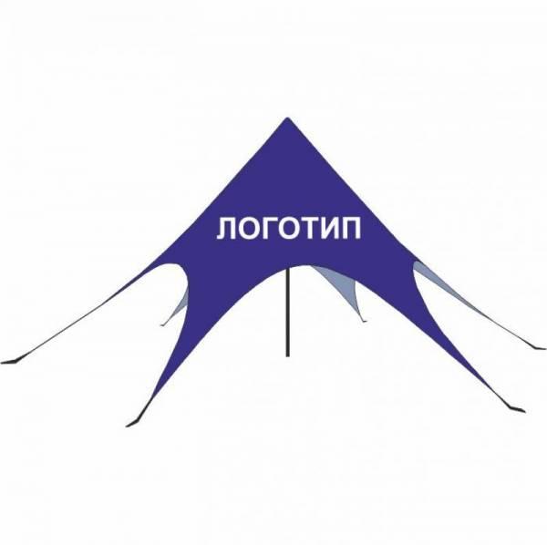 Рекламный промо шатер Звезда 6м с логотипом для ярмарки, выставки