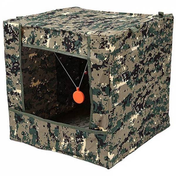 Складной ящик пулеулавливатель для стрельбы из рогатки по мишени
