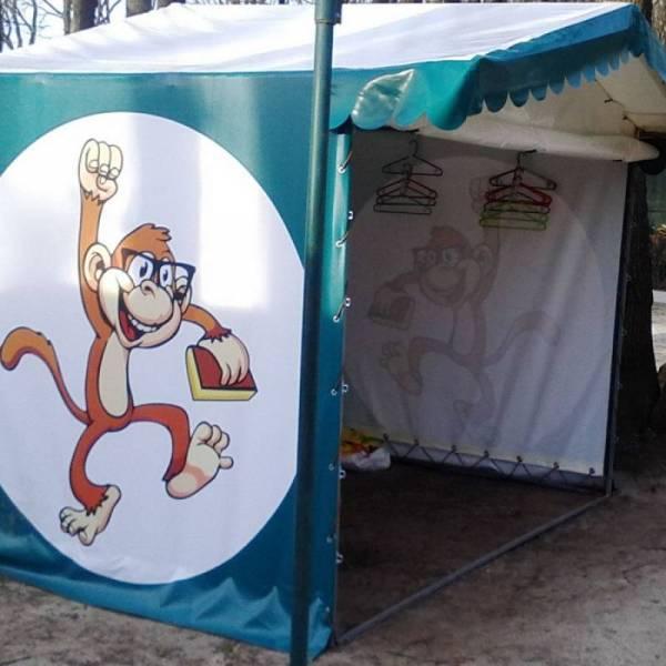 Под заказ брендированная рекламная агитационная палатка с печатью логотипа и нанесением рекламы для выставки, агитации и промоакций