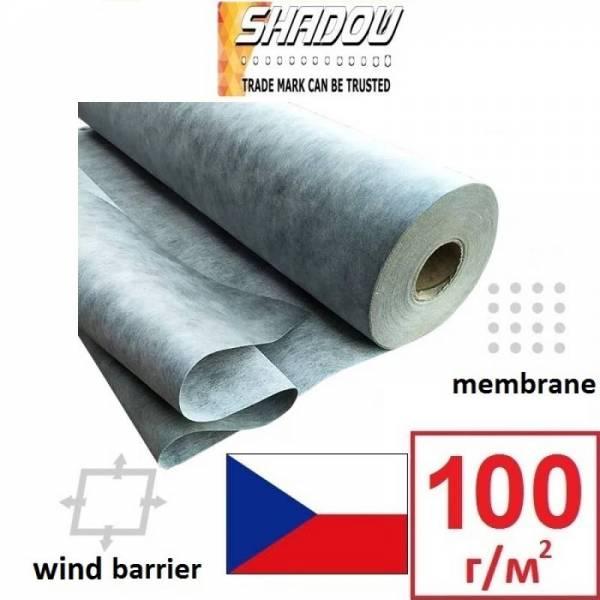 Ветроизоляция, мембрана, ветробарьер Shadow 100г/м2, 1,5х50м, серый