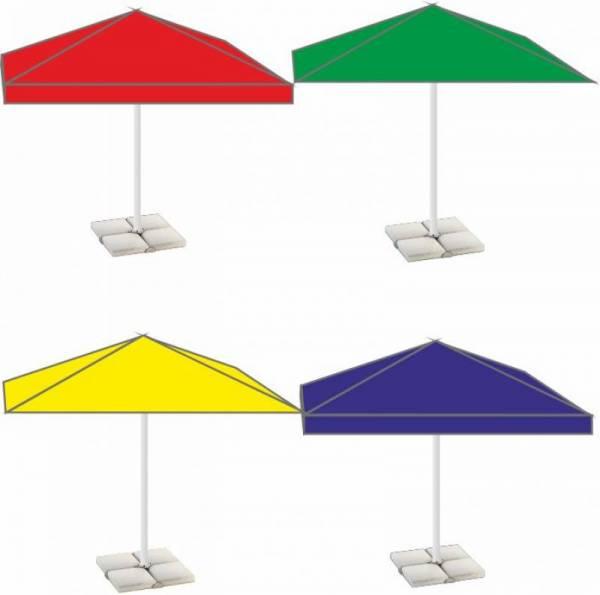 Хороший уличный прямоугольный дачный зонт 3х2 м для сада