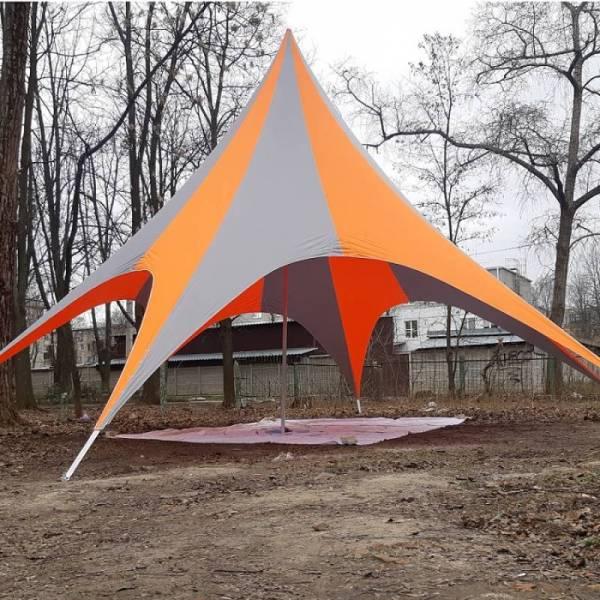 Под заказ шатер тент Звезда с логотипом